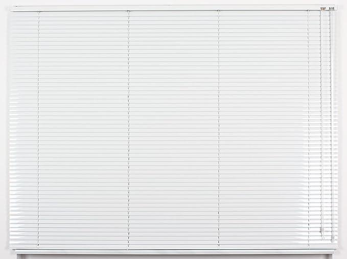 EFIXS Alu-Jalousie - Farbe: weiss - Höhe: 130cm - Breite im Angebot wählbar - hier: 40 x 130 cm (Breite x Höhe) - Aluminium-J