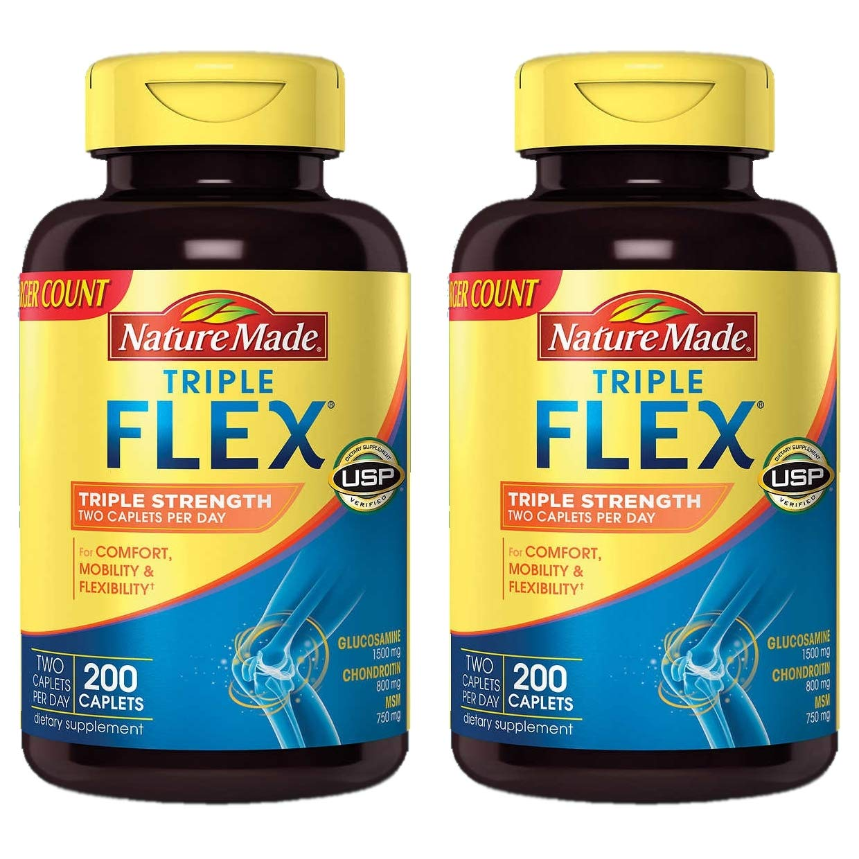 Nature Made TripleFlex Triple Strength, ((2Pack)200 Count)