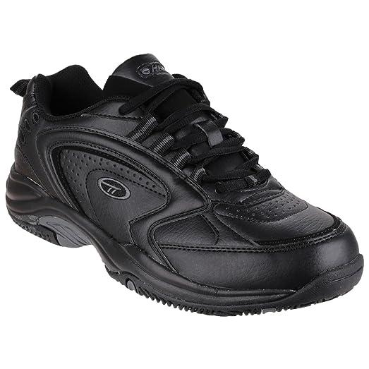 NUEVO Hombre / Negro Hombre Hi-Tec Blast Sintético Zapatillas Ligeras, - Negro - GB Tallas 7-14 - Negro, 41