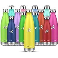 KollyKolla Botella de Agua Acero Inoxidable, Termo Sin BPA Ecológica, Botellas Termica Reutilizable Frascos Térmicos…