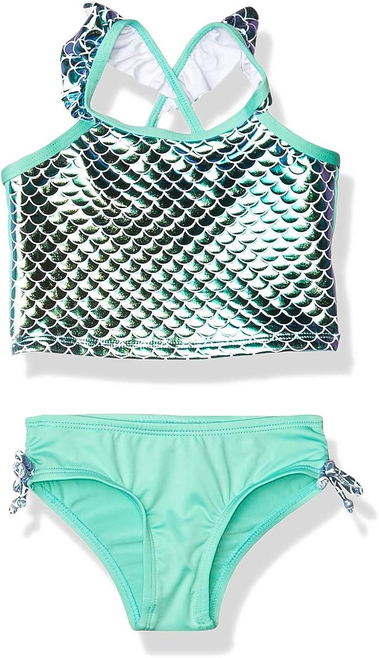 Pink Platinum Girls Toddler Baby Mermaid Bathing Suit