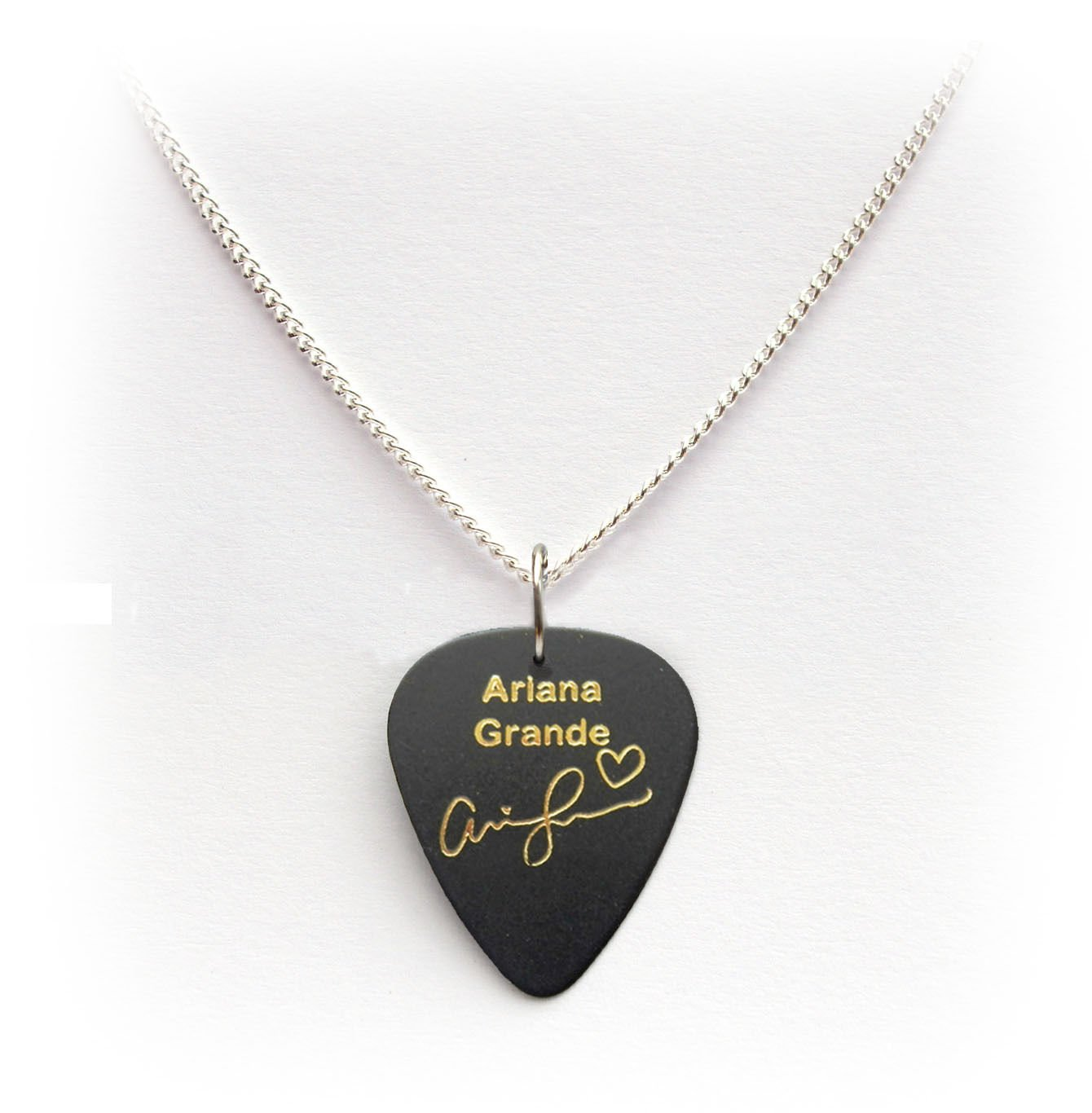 ARIANA GRANDE Signature Guitar Pick Plectrum necklace ...
