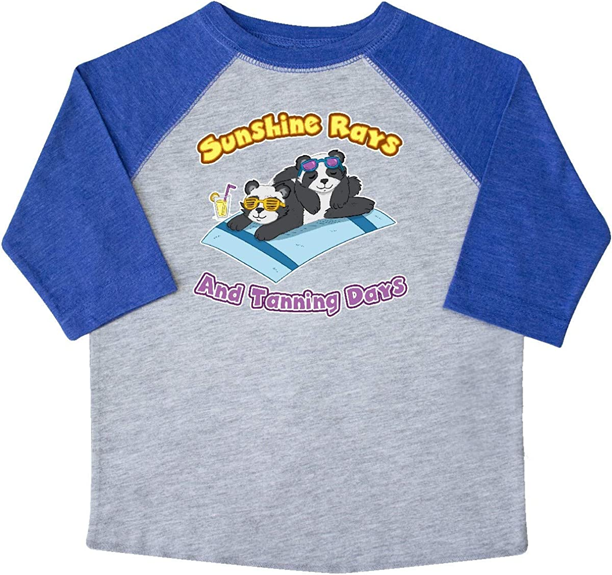inktastic Cute Baby Pandas Sunshine Rays and Tanning Days Toddler T-Shirt