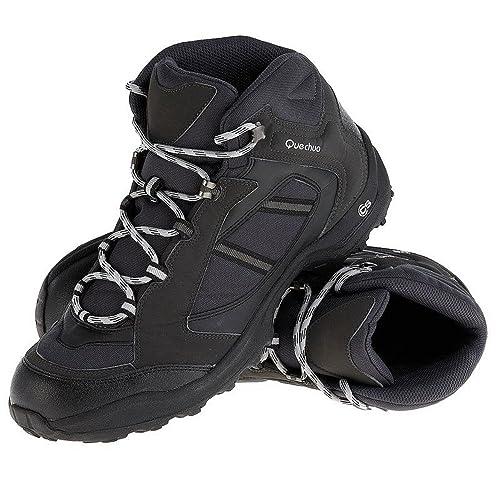 5dc96861585c QUECHUA ARPENAZ 50 MEN S WALKING BOOTS - BLACK  Amazon.in  Sports ...