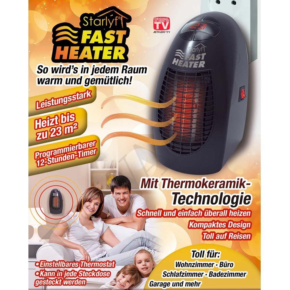 Starlyf® Fast Heater - Mini portátil y potente y de calefacción con tecnología de cerámica térmicos de para el enchufe: Amazon.es: Electrónica