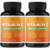 Nobi Vitamin C Capsules - 2000MG Vitamin C for Immune Support Immune Booster for Adults - 2 Pack - 120 Capsules