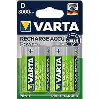 VARTA oplaadbare accu Ready2Use D 3000 mAh 2-pack 2er Pack groen