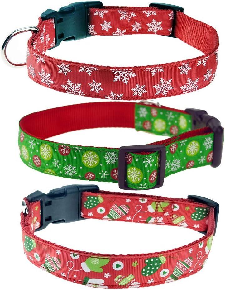 Amakunft - Collar Reflectante y Duradero para Perro con Nombre ...