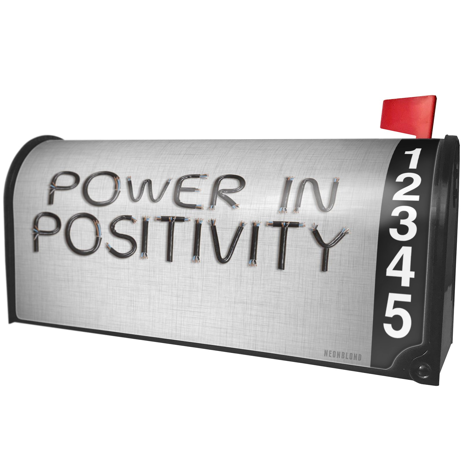 NEONBLOND Power in Positivity Electronics Wires and Cables Magnetic Mailbox Cover Custom Numbers