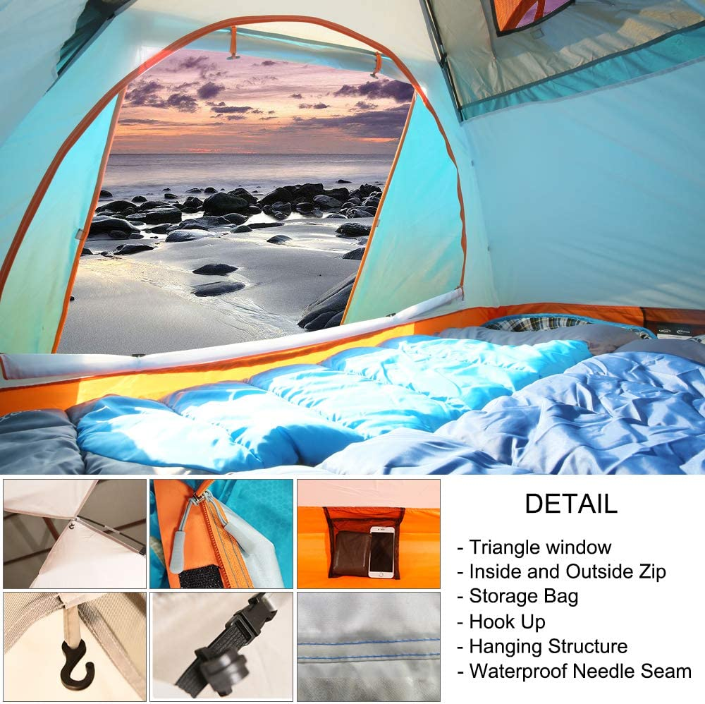 ZOMAKE Lightweight Backpacking Tent 2 Person 4 Season Waterproof Camping Tent