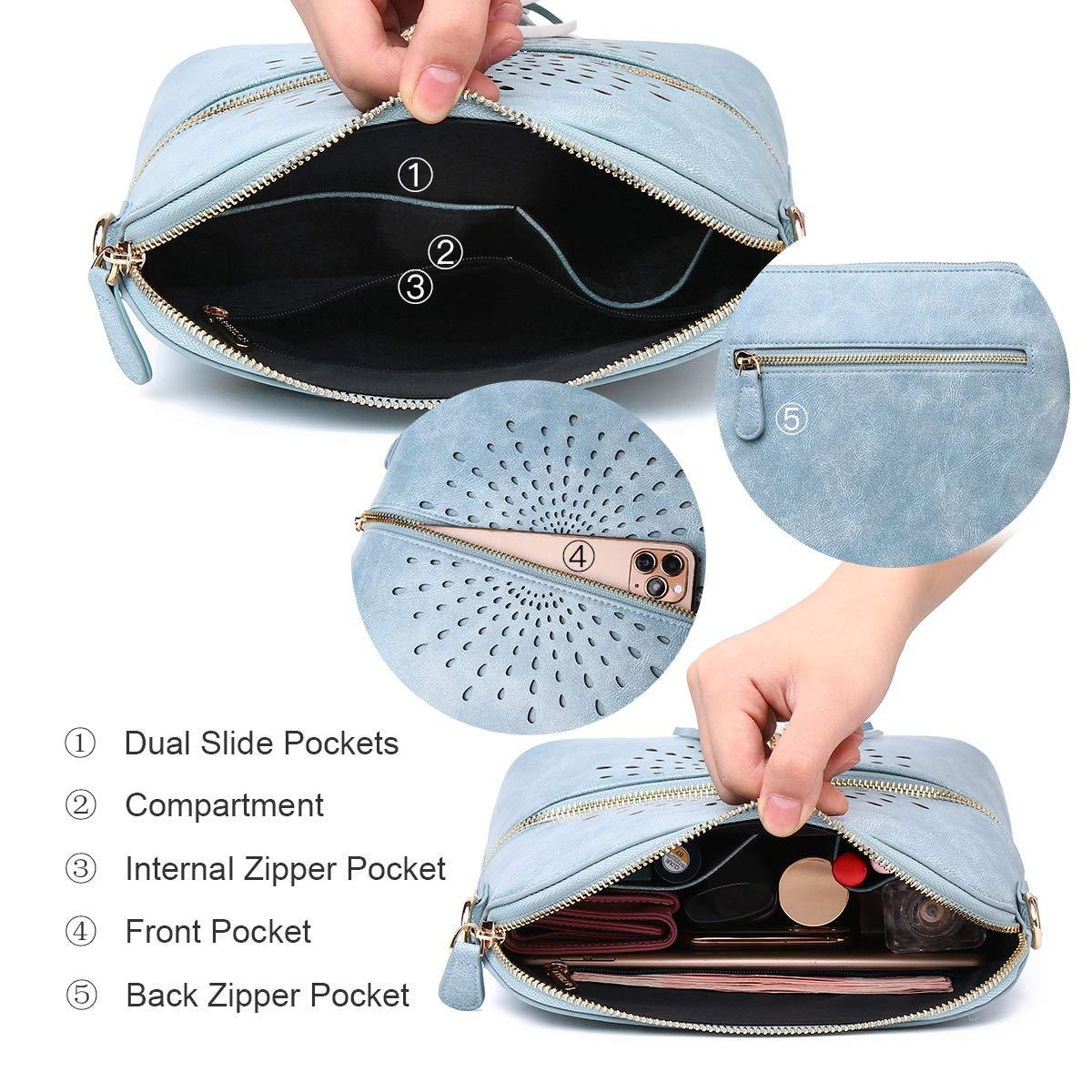 APHISON Designer kvinnor crossbody väska tofs axel skal väskor för damer vintage sol blomma multifunktion ficka PU L eather PT1938 1938blue