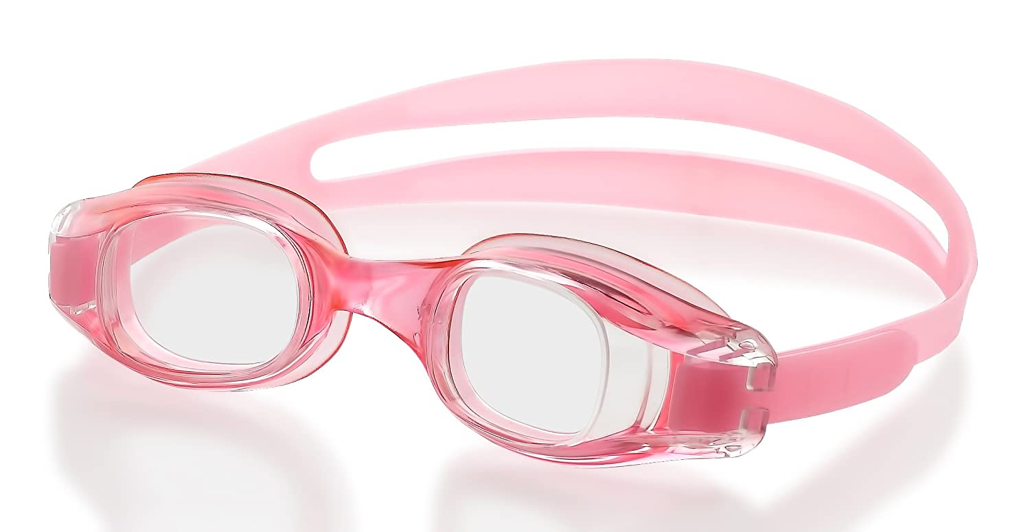 727ff442ef7 Swimming Goggles for Kids and Early Teens (ages 7-12)-Pink- Universal Leak  Resistant Eye Fit
