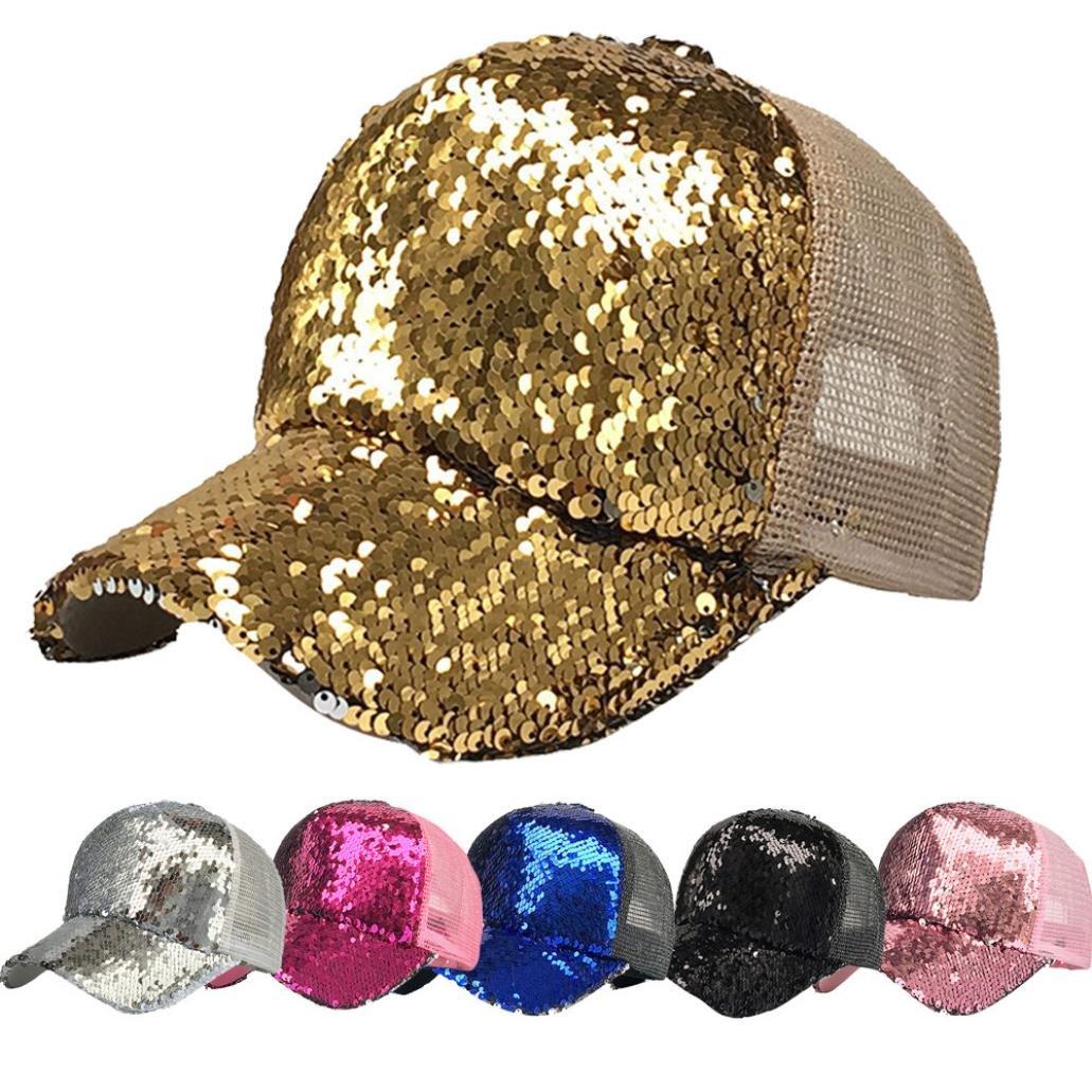 Amazon.com  Hemlock Hats Shiny Sequins Caps 97f46ccaf3b