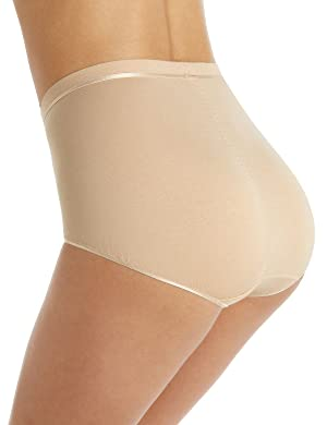 Fa M ou S Store 2 Pack Suprima Ultimate Comfort High Rise Full Briefs Knickers [14, Natural, 8332N, LL_0865]
