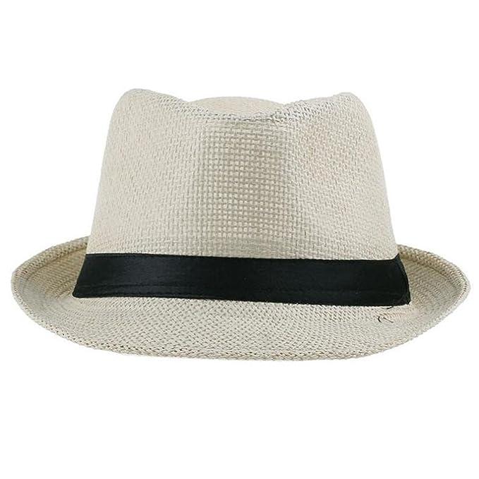 8064f660c85d4 Dedesty Women Men Fashion Casual Trendy Beach Sun Straw Hat Cowboy Cap Beige