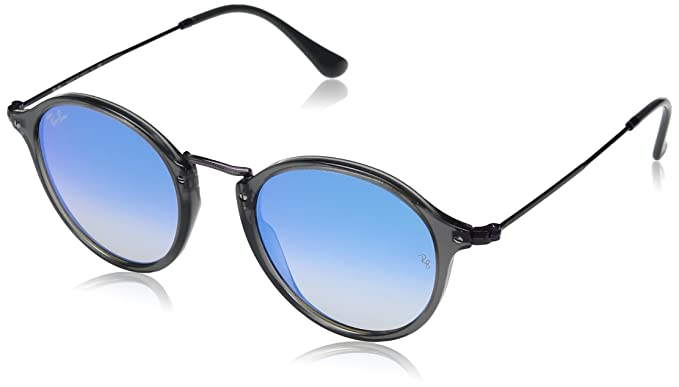 a79d2e5ee Ray-Ban Unisex's Rb 2447N Sunglasses, Grey Transparent, 49: Amazon ...