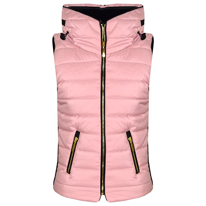 78a03d242125 A2Z 4 Kids® Kids Girls Boys Sleeveless Hooded Padded Quilted - Gilet Puffer  466 Baby