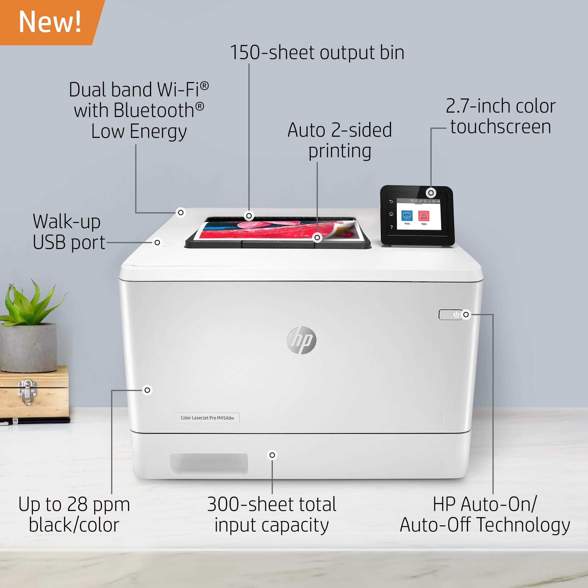 HP Color LaserJet Pro M454dw Printer (W1Y45A) by HP (Image #2)