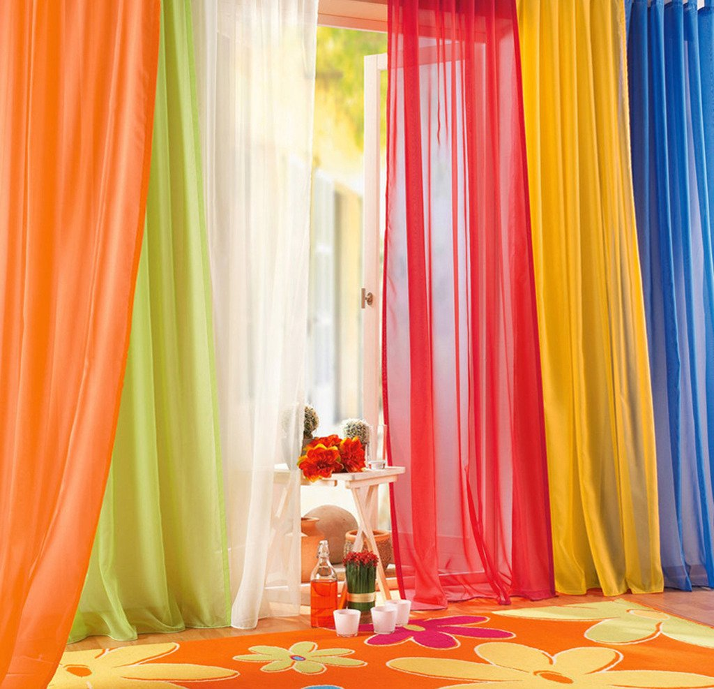 LivebyCare 1pcs Pinkycolor Sheer Window Curtain Panel Grommet Top Voil Window Treatment Drapery Drape Room Divider Partition Curtains Decorative for Family Room Hotel by LivebyCare (Image #3)