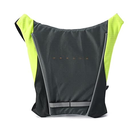 Bicycle Bags & Panniers Led Light Warning Vest Usb Charging Backpack Mtb Bike Bag Safety Led Signal Vests Warning Accessories 1pc Back To Search Resultssports & Entertainment