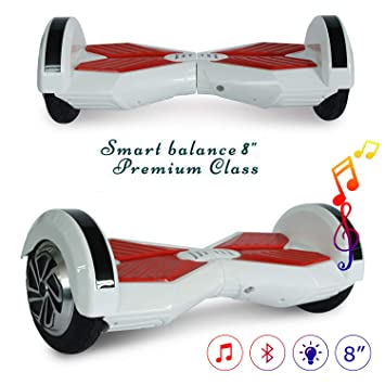 COLORWAY Patinete Eléctrico Hoverboard Auto Equilibrio de 8 Pulgadas con Bluetooth y LED Self Balance E-Skateboard