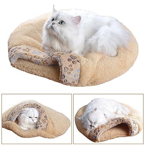 Gato O Perro Cama para gatos y hundewelpen, extracálido Waterproof Manta cueva Gatos caja Gatos