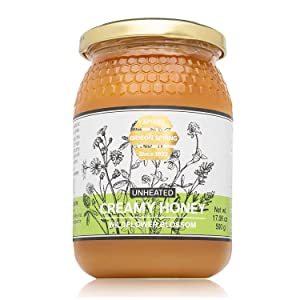 Gideon Spring Premium Honey - Pure Raw Unfiltered UNHEATED 100% Natural l (Jar 17.06 ounce) - Exotic Flavor: Wildflower Blossom, from the Land of Milk and Honey