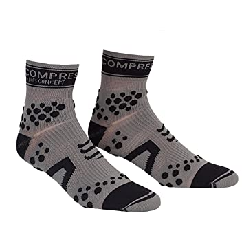 Compressport Pro Racing V2 Trail Hi - Calcetines para mujer, color negro/gris, talla S: Amazon.es: Deportes y aire libre