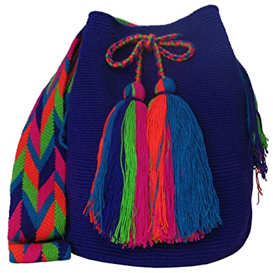 Amazon.com: Across The Puddle, Wayuu Bags and Hats Collection, Authentic Large Wayuu Mochila Bag MW-0202: Shoes