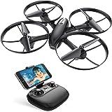Potensic U47 Camera Drone, FPV RC Quadcoper with 720P HD Camera Live Video, Altitude Hold, Headless Mode, One Key Return and Speed Adjustment