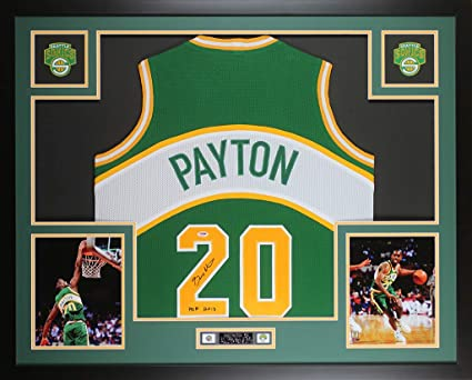 cheaper 44c01 142cb Gary Payton Autographed Green SuperSonics Jersey ...