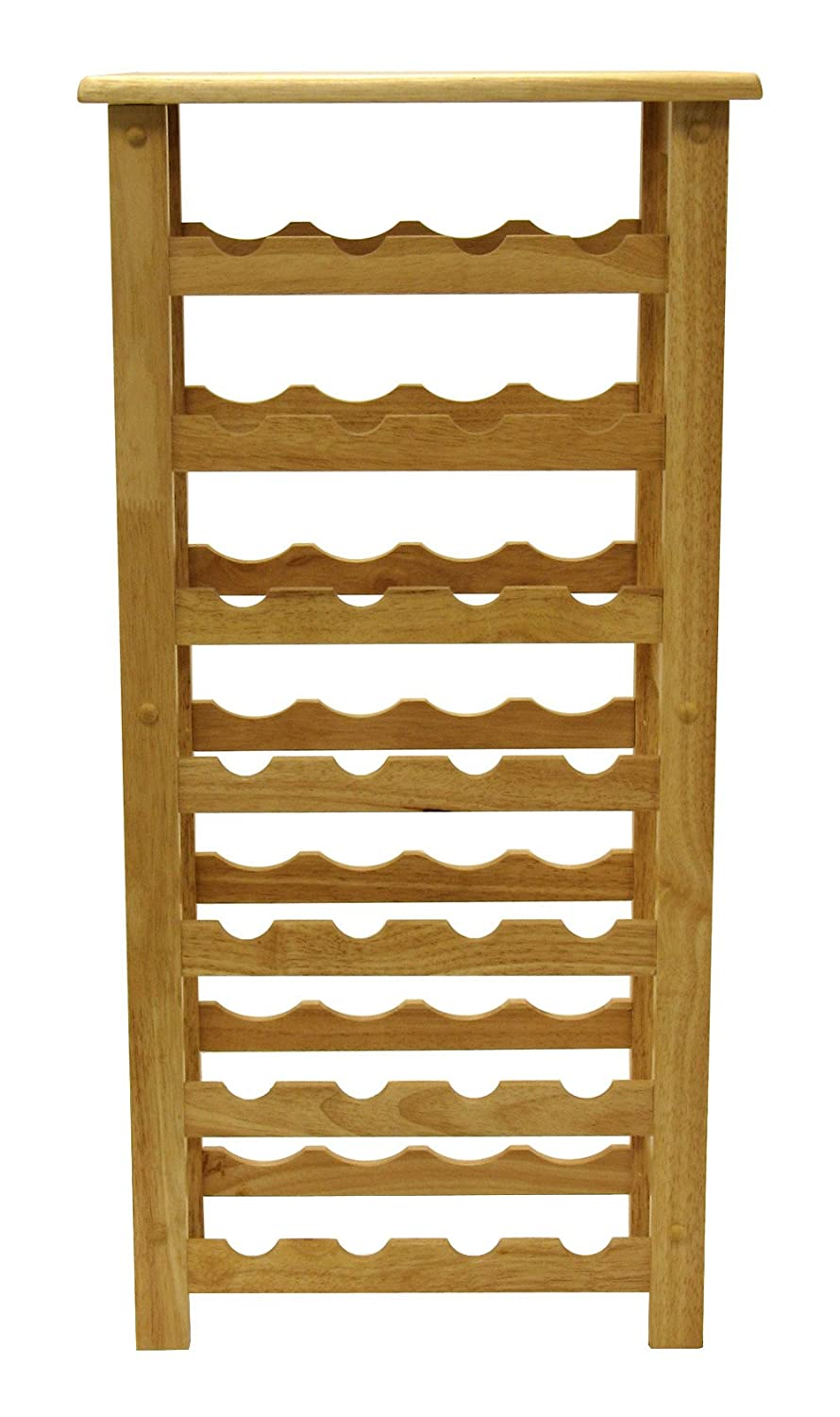 Winsome Wood 28 Bottle Wine Rack Natural Amazonca Home Kitchen