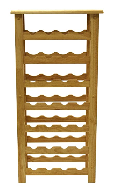 Attractive Winsome Wood 28 Bottle Wine Rack, Natural