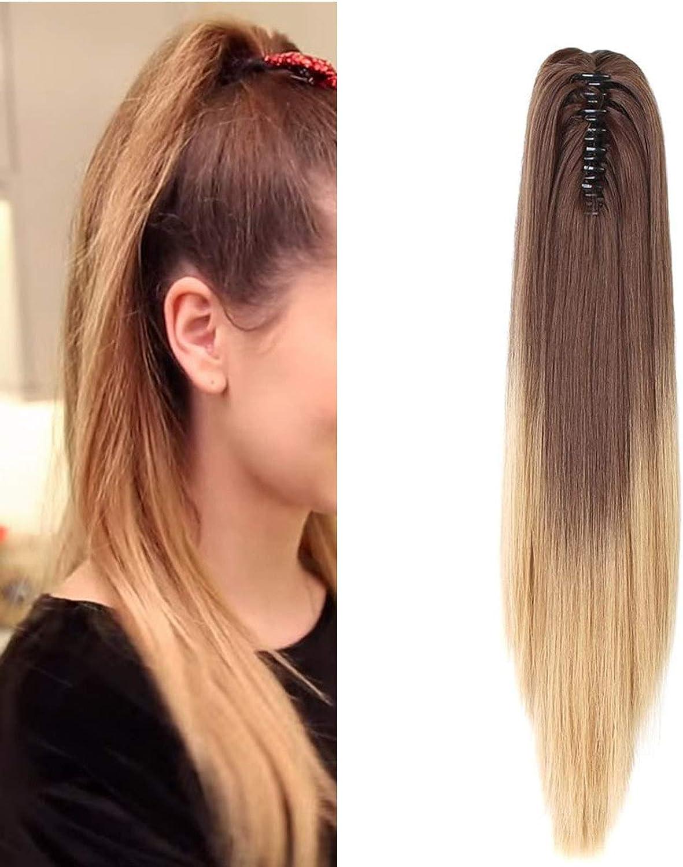 Neverland 50cm extensiones pelo natural coletero coleta postiza Beauty liso peluca peluca trenza cola de caballo Cola de caballo fibra sintética #4