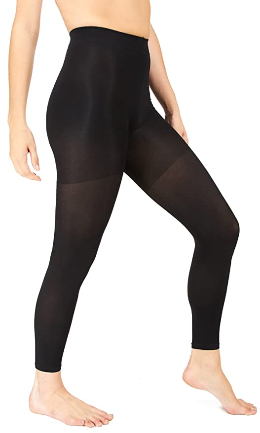 5e2284e96 Marilyn Monroe Womens Ladies 2Pack Control Top Footless Opaque Tights (See  More Colors and Sizes) at Amazon Women s Clothing store