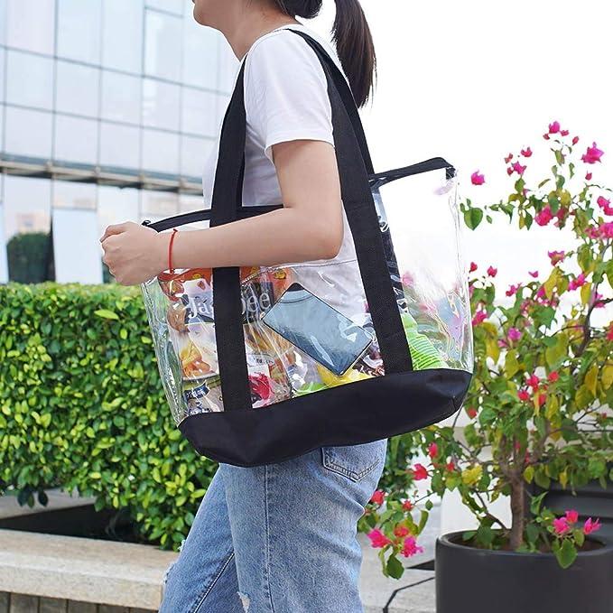 Amazon.com: Bolso grande transparente de PVC, bolso de ...