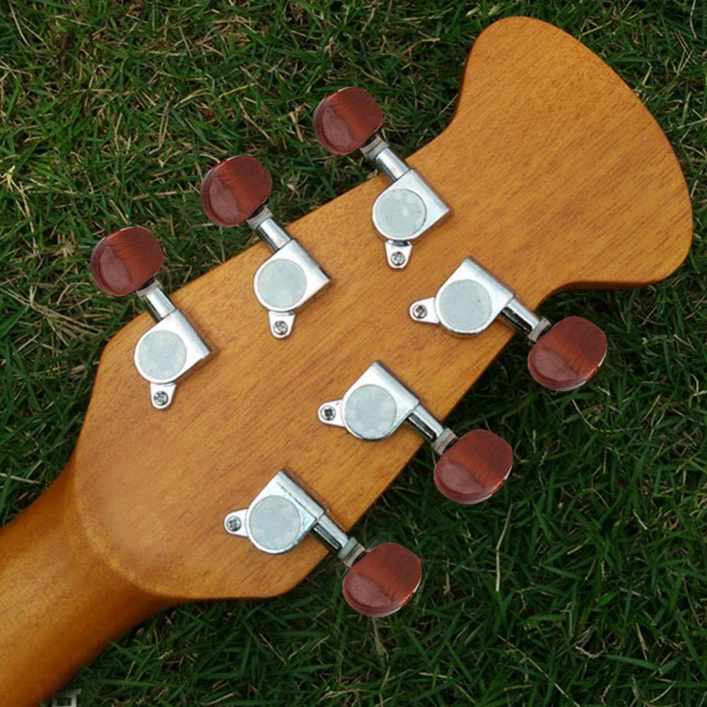 Dilwe 3L3R Clavijas, Sintonizadores de Bloqueo Cabezales de Máquina para Guitarra Eléctrica Acústica(Plata): Amazon.es: Deportes y aire libre