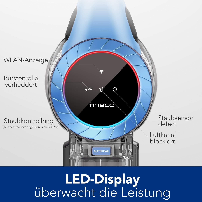 Aspirateur balai sans fil intelligent S11 Tango EX Tineco avec grande puissance d'aspiration optimisée longue autonomie de fonctionnement Bleu