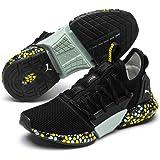 PUMA Women's Hybrid Rocket Runner WN's Sneaker, Black-fair Aqua-Blazing Yellow