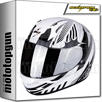 Amazon.es: SCORPION 39-293-63 CASCO MOTO INTEGRAL EXO-390 POP BLANCO-NEGRO XL
