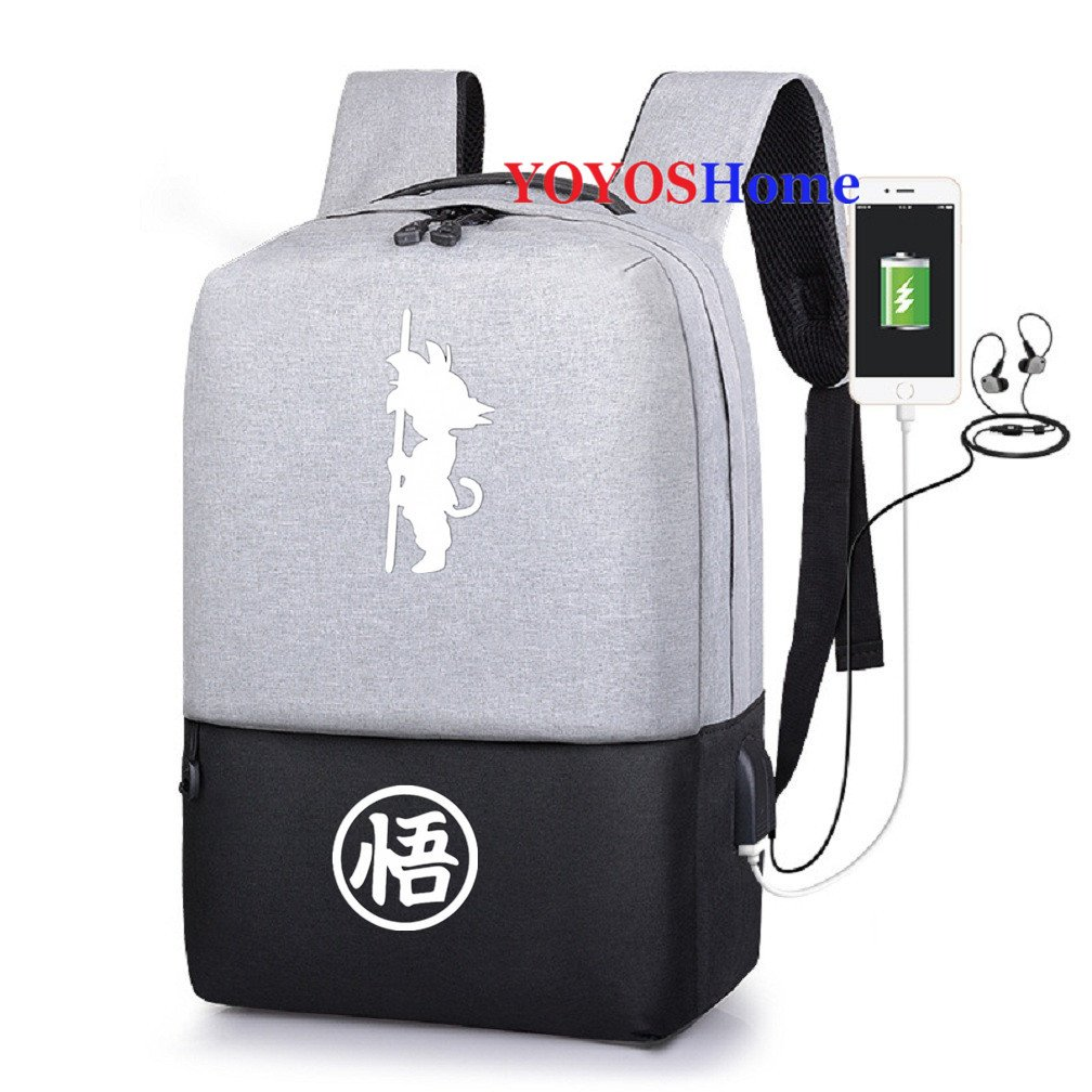 YOYOSHome Japanese Anime Dragon Ball Z Cosplay Daypack Bookbag Laptop Bag Backpack School Bag with USB Charging Port (14)