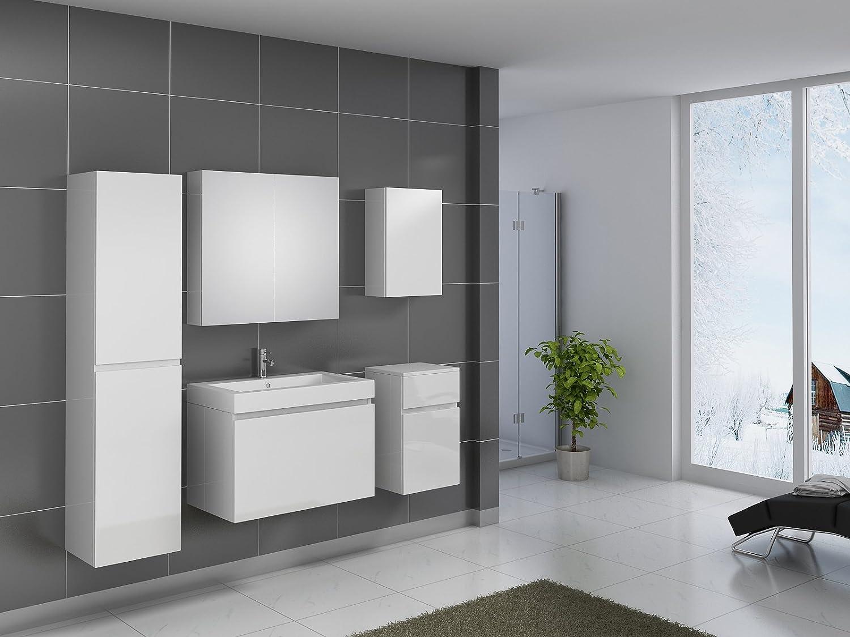 SAM® Design Badmöbel-Set Parma, 80 cm, in Hochglanz weiß, 5tlg ...