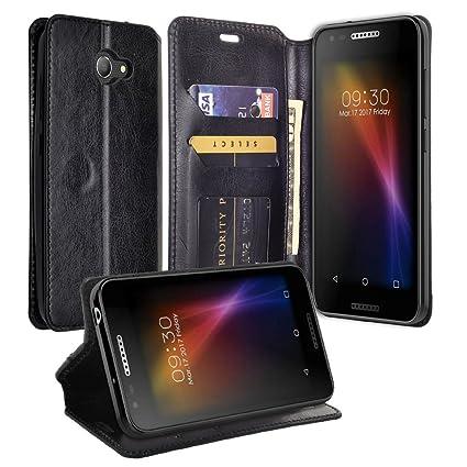 online retailer 166cd ea84f [Coverlab] Protective Wallet Case for Alcatel Zip LTE Case, Alcatel A577VL  A576BL Case, Alcatel Kora Case Pu Leather Flip [Kickstand] Phone Case Cover  ...