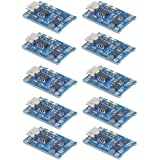 MakerFocus 10pcs TP4056 Charging Module with Battery Protection 18650 BMS 5V Micro USB 1A 186 50 Lithium Battery…