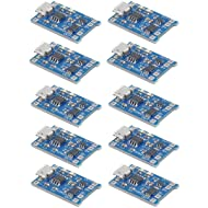 MakerFocus 10pcs TP4056 Charging Module with Battery Protection 18650 BMS 5V Micro USB 1A 186 50 Lithium Battery Charging Board