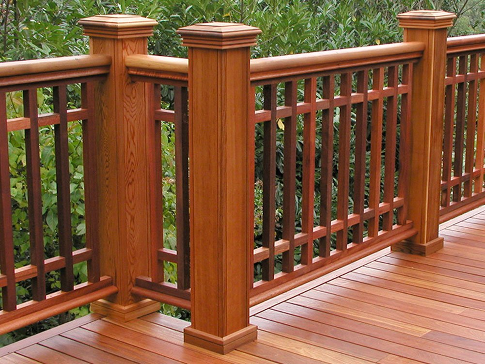 Woodway Products Mahogany Wood Post Sleeve – 48 Inch Preassembled Quick Clad Porch Post Wrap