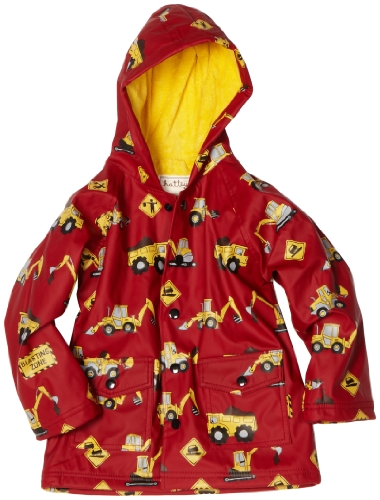 Hatley Little Boys' Diggers Rain Coat