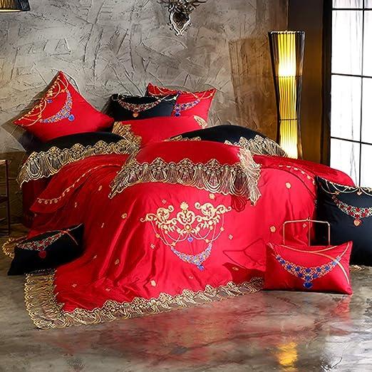 YIEBAI, Funda de edredón Púrpura 80S Juego de sábanas de algodón ...