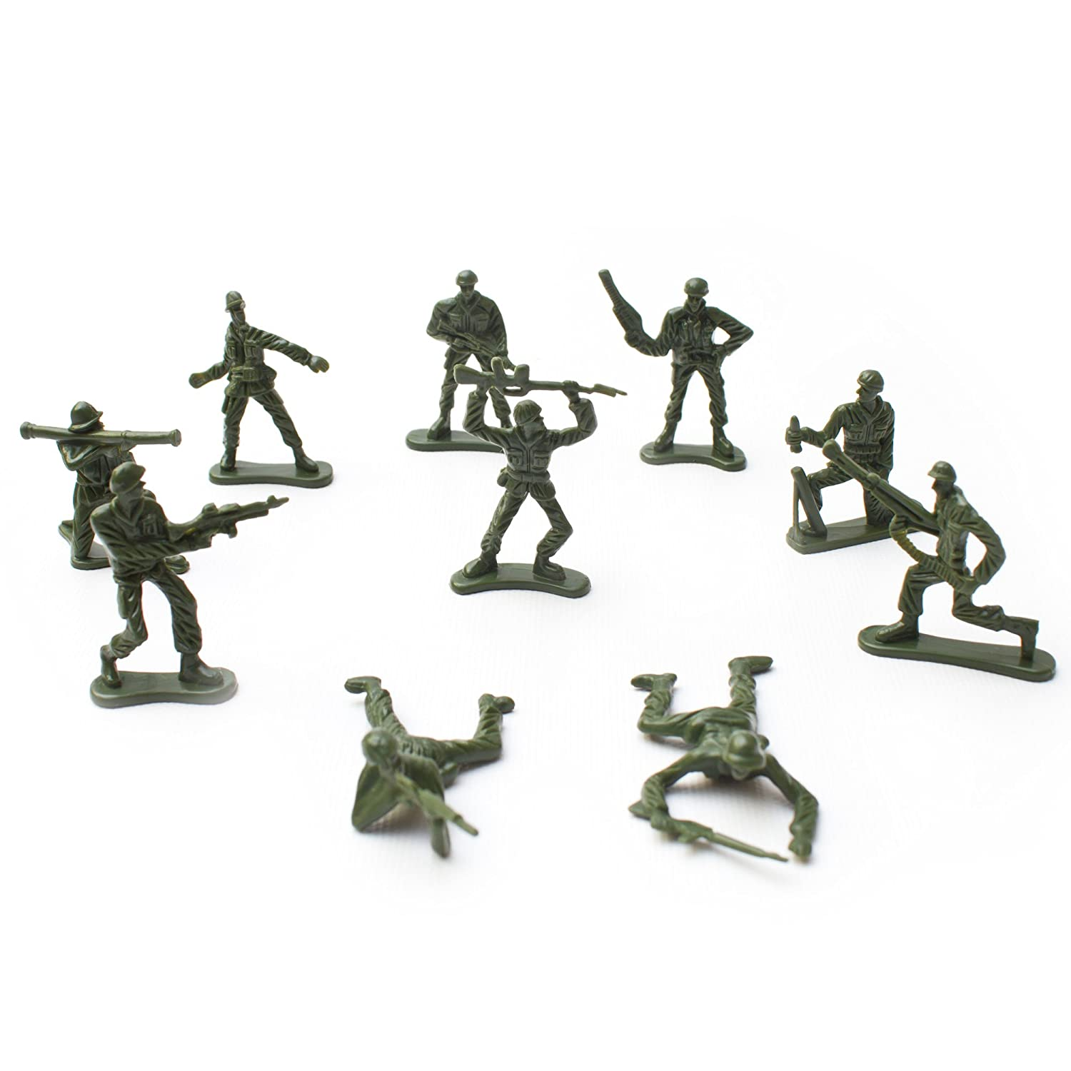 Fun Central AU196, 144 Pcs Various Pose Toy Soldiers Figures, Army Men Green Toy Soldiers, Toy Soldiers Action Figures For Kids NOV-FIGARY-G