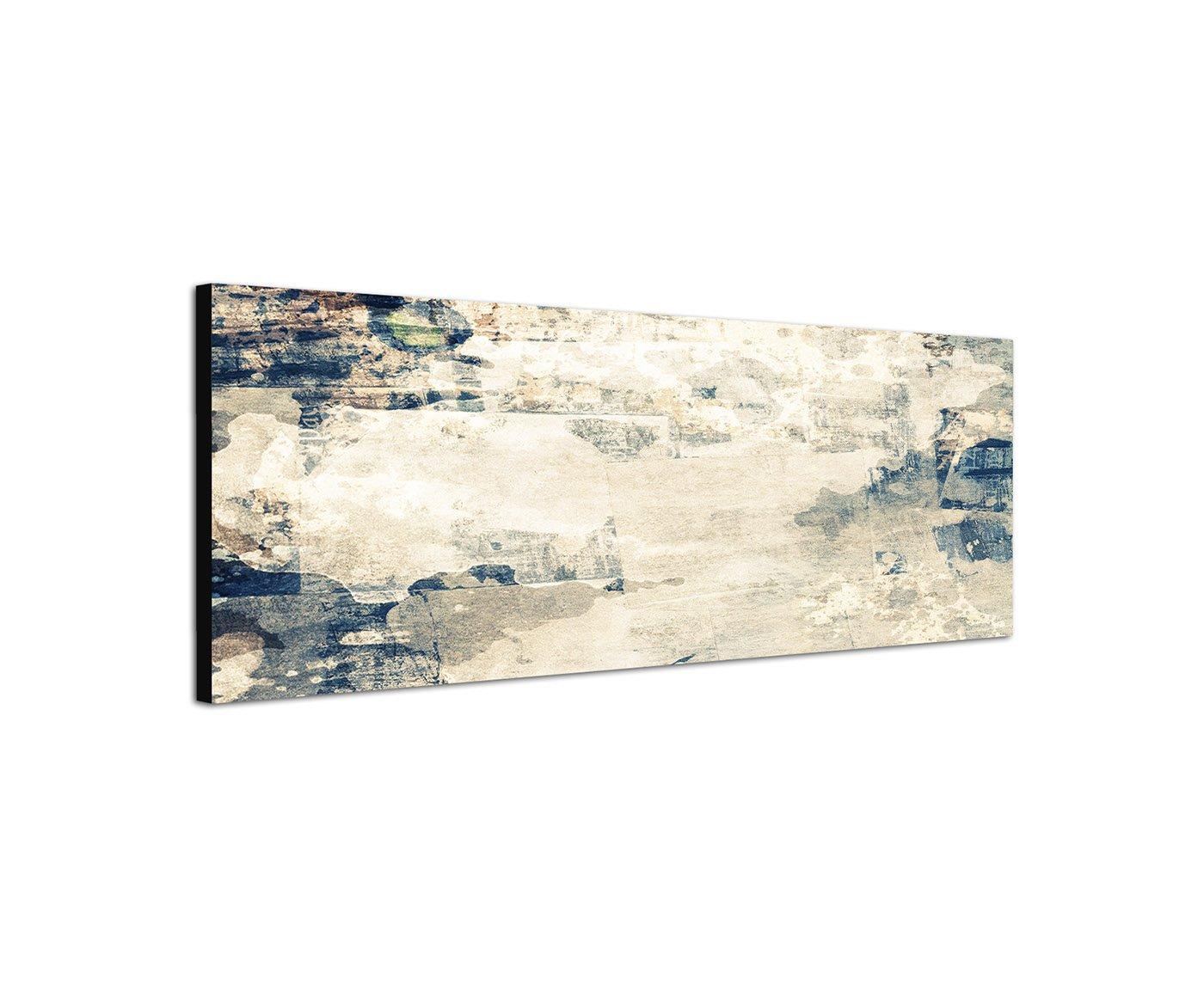 Texture grau blau braun beige 150x50cm Panorama Wandbild auf Leinwand und Keilrahmen fertig zum aufhängen - Unsere Bilder auf Leinwand bestechen durch ihre ungewöhnlichen Formate und den extrem detaillierten Druck aus bis zu 100 Megapixel hoch aufgelösten